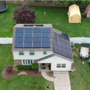 Residential Solar PV System On New Jersey Home